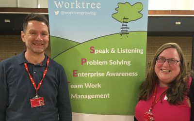 Really impressed by the young people – Graeme Woodhouse and Libby Hallows, Santander